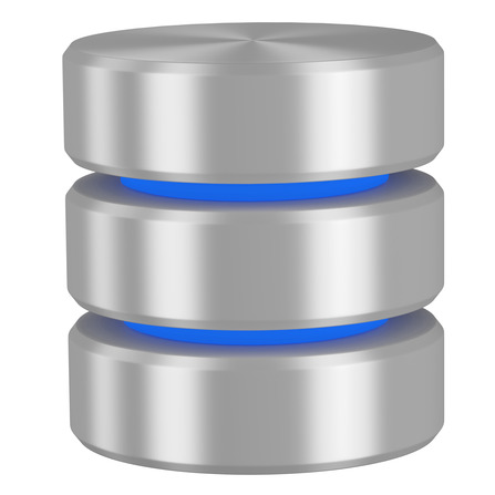 Database icon with blue elements