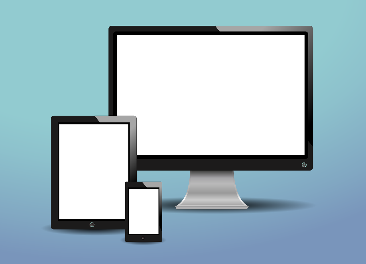 tablet, phone, computer, responsive design